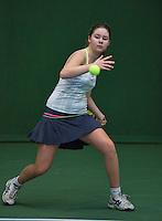 20131201,Netherlands, Almere,  National Tennis Center, Tennis, Winter Youth Circuit, Noesjka Brink <br /> Photo: Henk Koster