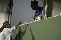 Campinas (SP), 29/01/2021 - Guarani-Juventude - Discussao entre diretores do Guarani e Radialista do Sul. Partida entre Guarani e Juventude valida pela 38ª rodada do Campeonato Brasileiro da Serie B, no estadio Brinco de Ouro em Campinas, interior de Sao Paulo, nesta sexta-feira (29). (Foto: Denny Cesare/Codigo 19/Codigo 19)