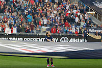 Saint Paul, MN - Tuesday September 03, 2019 : Center flag holder prior to the USWNT 2019 Victory Tour match versus Portugal at Allianz Field, on September 03, 2019 in Saint Paul, Minnesota.