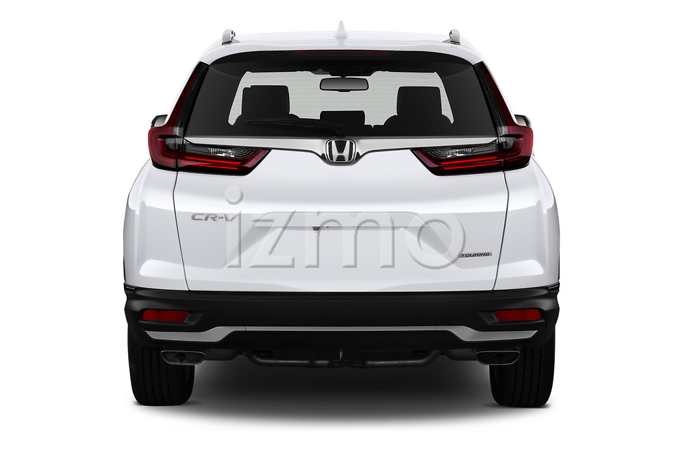 Straight rear view of 2020 Honda CR-V Touring 5 Door SUV Rear View  stock images