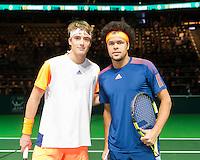 ABN AMRO World Tennis Tournament, Rotterdam, The Netherlands, 14 februari, 2017, Stefanos Tsitsipas (GRE), Jo-Wilfried Tsonga (FRA)<br /> Photo: Henk Koster