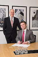 Senior Partner Andy Matthews (left) with Paul Simpson from Gateley plc Nottingham