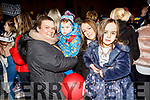 Enjoying the atmosphere in the Square at the turning on of the Christmas Tree lights on Saturday.<br /> L to r: Anita, Stephen and Fidelma McGinty and Lily McDonald.