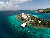 Aerial view of Coral World<br /> St. Thomas<br /> US Virgin Islands