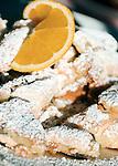 Austria, East-Tyrol, Lienz: cut-up and sugared pancake with raisins serverd at popular Mountain Inn Lienz Dolomites hut (1.616 m) at Lienz Dolomites   Oesterreich, Ost-Tirol, Lienz: Kaiserschmarrn serviert in der Lienzer Dolomitenhuette (1.616 m), beliebte Jausenstation in den Lienzer Dolomiten