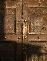 Detail of an old metal door in the Old City of Damascus, Syria