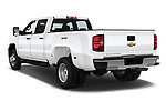 Car pictures of rear three quarter view of a 2019 Chevrolet Silverado-3500 WT 4 Door Pick Up angular rear
