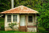 Old abandoned house in Lanai City, Lanai, Hawaii.