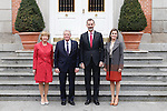 King Felipe VI od Spain and Reina Letizia offered a lunch at the Palace of La Zarzuela to His Excellencies the President of the Federal Republic of Germany, Mr. Joachim Gauck, and Ms. Daniela Schadt on the occasion of their visit to Spain. February 1,2017. (ALTERPHOTOS/Pool)