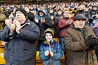 Wolverhampton supporters applaud in tribute to John Hendley who worked for the Club during the Emirates FA Cup match between Wolverhampton Wanderers and Swansea City at The Molineux Stadium, Wolverhampton, England, UK. Saturday 06 January 2018
