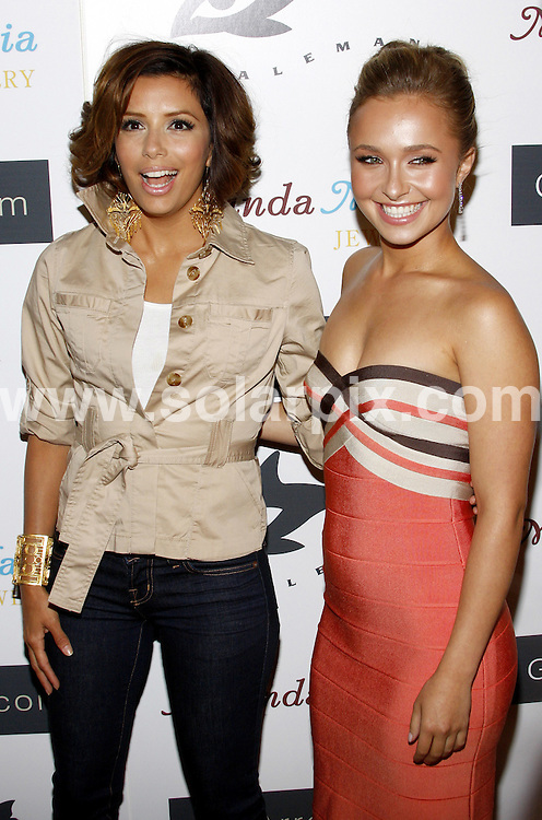 **ALL ROUND PICTURES FROM SOLARPIX.COM**.**SYNDICATION RIGHTS FOR UK, SPAIN, PORTUGAL, AUSTRALIA, S.AFRICA & DUBAI (U.A.E) ONLY**.arrivals for the Hayden Panettiere Hosts Whaleman Foundation Benefit at Beso - Hollywood, CA, USA. 10th August 2008..This pic: Eva Longoria and Hayden Panettiere..JOB REF: 6994 PHZ/Ortega    DATE: 10_08_2008.**MUST CREDIT SOLARPIX.COM OR DOUBLE FEE WILL BE CHARGED* *UNDER NO CIRCUMSTANCES IS THIS IMAGE TO BE REPRODUCED FOR ANY ONLINE EDITION WITHOUT PRIOR PERMISSION*