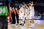 Real Madrid's Sergio Llull, Anthony Randolph, Jeffery Taylor and Gustavo Ayon during Turkish Airlines Euroleague match between Real Madrid and Crvena Zvezda Mts Belgrade at Wizink Center in Madrid, Spain. March 10, 2017. (ALTERPHOTOS/BorjaB.Hojas)