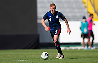 GUADALAJARA, MEXICO - MARCH 28: Justen Glad #4 of the United States moves with the ball during a game between Honduras and USMNT U-23 at Estadio Jalisco on March 28, 2021 in Guadalajara, Mexico.