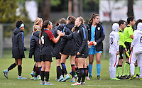 Monfalcone, Italy, April 26, 2016.<br /> USA's players celebrating after winning the USA v Iran football match at Gradisca Tournament of Nations (women's tournament). Monfalcone's stadium.<br /> © ph Simone Ferraro / Isiphotos
