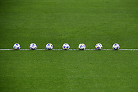 A row of balls is seen on the pitch prior to the Serie A football match between AC Milan and SSC Napoli at San Siro Stadium in Milano  (Italy), March 14th, 2021. Photo Andrea Staccioli / Insidefoto