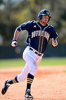 Notre Dame Fighting Irish outfielder Charlie Markson #20 during a game against the Mercer Bears at the Buck O'Neil Complex on February 17, 2013 in Sarasota, Florida.  Mercer defeated Notre Dame 5-4.  (Mike Janes/Four Seam Images)