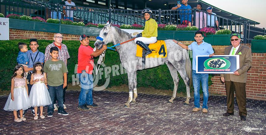 Burn Em Joey winning The Delaware Park Arabian Juvenile Championship (Grade 3) at Delaware Park on 9/29/18