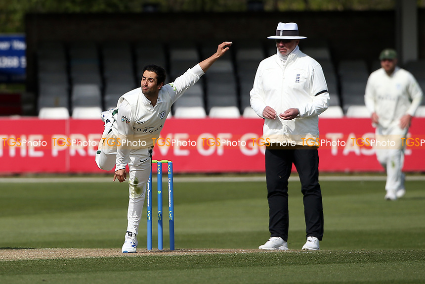 Brett D'Oliveira in bowling action for Worcestershire during Essex CCC vs Worcestershire CCC, LV Insurance County Championship Group 1 Cricket at The Cloudfm County Ground on 8th April 2021