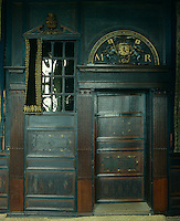 The doorway to the bedroom where Mary Queen of Scots stayed at Hardwick Hall