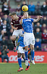 Hearts v St Johnstone…19.03.16  Tynecastle, Edinburgh<br />David Wotherspoon and Gavin Reilly<br />Picture by Graeme Hart.<br />Copyright Perthshire Picture Agency<br />Tel: 01738 623350  Mobile: 07990 594431