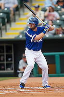 Oklahoma City Dodgers outfielder Andy Wilkins (38) at bat during the Pacific Coast League baseball game against the Nashville Sounds on June 12, 2015 at Chickasaw Bricktown Ballpark in Oklahoma City, Oklahoma. The Dodgers defeated the Sounds 11-7. (Andrew Woolley/Four Seam Images)