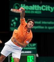 12-02-12, Netherlands,Tennis, Den Bosch, Daviscup Netherlands-Finland, Jesse Huta Galung