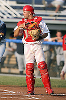 June 27th, 2007:  Nick Derba of the Batavia Muckdogs, Short-Season Class-A affiliate of the St. Louis Cardinals at Dwyer Stadium in Batavia, NY.  Photo by:  Mike Janes/Four Seam Images