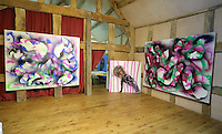 Pictured: The exhibition studio Friday 02 December 2016<br /> The Sidney Nolan Trust, Rodd, Herefordshire, England, UK