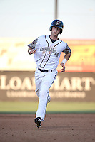 Kyle Tucker (31) of the Lancaster JetHawks runs the bases during a game against the Inland Empire 66ers at The Hanger on September 3, 2016 in Lancaster, California. Lancaster defeated Inland Empire, 7-6. (Larry Goren/Four Seam Images)