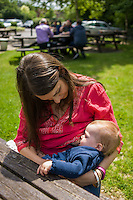"""Image from the breastfeeding collection of the """"We Do It In Public"""" documentary photography picture library project: <br />  www.breastfeedinginpublic.co.uk<br /> <br /> <br /> Hampshire, England, UK<br /> 19/06/2013<br /> <br /> © Paul Carter / wdiip.co.uk"""