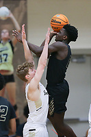 Little Rock Central Annor Boateng (12) shoots a layup, Saturday, November 14, 2020 during a basketball game at Bentonville High School in Bentonville. Check out nwaonline.com/201115Daily/ for today's photo gallery. <br /> (NWA Democrat-Gazette/Charlie Kaijo)
