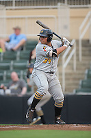 Carlos Munoz (34) of the West Virginia Power at bat against the Kannapolis Intimidators at Kannapolis Intimidators Stadium on August 20, 2016 in Kannapolis, North Carolina.  The Intimidators defeated the Power 4-0.  (Brian Westerholt/Four Seam Images)