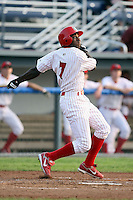 July 19th, 2007:  Justin Roberson of the Batavia Muckdogs, Short-Season Class-A affiliate of the St. Louis Cardinals at Dwyer Stadium in Batavia, NY.  Photo by:  Mike Janes/Four Seam Images