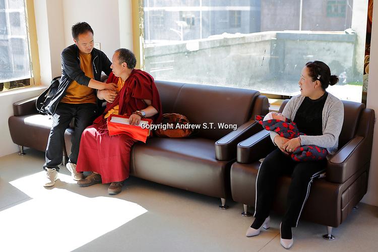Nangqen County, Yushu Tibetan Autonomous Prefecture, Qinghai Province, China - A Tibetan medical clinic, August 2019.