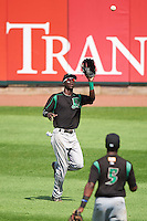 Dayton Dragons right fielder Zack Shields (7) catches a fly ball during a game against the Cedar Rapids Kernels on July 24, 2016 at Perfect Game Field in Cedar Rapids, Iowa.  Cedar Rapids defeated Dayton 10-6.  (Mike Janes/Four Seam Images)