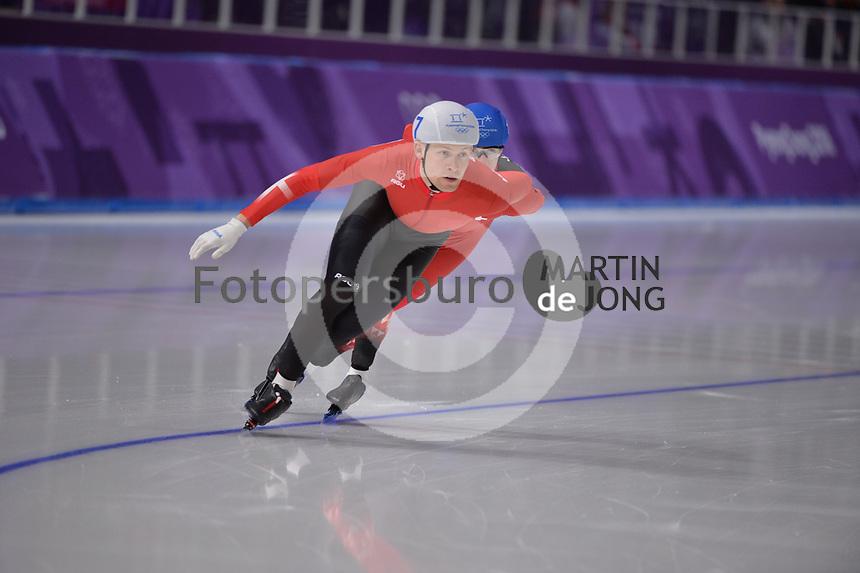 OLYMPIC GAMES: PYEONGCHANG: 24-02-2018, Gangneung Oval, Long Track, Mass Start Men, Viktor Hald Thorup (DEN), ©photo Martin de Jong