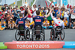 MILTON, ON, AUGUST 13, 2015. Cycling time trials, including Canadian Gold Bronze Medallist  Charles Moreau (H3M).<br /> Photo: Dan Galbraith/Canadian Paralympic Committee
