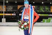 SCHAATSEN: UTRECHT: 01-01-2018, NK Marathonschaatsen, winnaar Simon Schouten, ©foto Martin de Jong