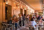 Fuerstentum Monaco, an der Côte d'Azur, Stadtteil La Condamine: Café Place du Marche am Place d'Armes | Principality of Monaco, on the French Riviera (Côte d'Azur), district La Condamine: Café Place du Marche at square Place d'Armes