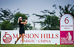 Suzann Pettersen of Norway in action during the first day of the World Ladies Championship at the Mission Hills Haikou Sandbelt Trails course on 7 March 2013 in Hainan island, China . Photo by Victor Fraile / The Power of Sport Images