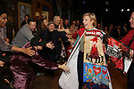 """Kelli O'Hara and Erica Mansfield during the Broadway Opening Night Legacy Robe Ceremony honoring Erica Mansfield for  """"Kiss Me, Kate""""  at Studio 54 on March 14, 2019 in New York City."""