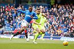 05.05.2019 Rangers v Hibs: Jermain Defoe has a shot