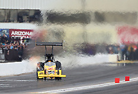 Feb 23, 2020; Chandler, Arizona, USA; NHRA top fuel driver Shawn Langdon during the Arizona Nationals at Wild Horse Pass Motorsports Park. Mandatory Credit: Mark J. Rebilas-USA TODAY Sports