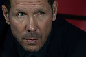 Atletico de Madrid Argentinian coach Diego Pablo Simeone during the Atletico de Madrid against Juventus Uefa Champions League football match at Wanda Metropolitano stadium in Madrid on September 18, 2019.