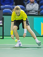 10-02-13, Tennis, Rotterdam, qualification ABNAMROWTT, ballgirl
