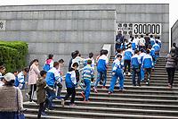 Nanjing, Jiangsu, China.  Students Entering the Nanjing Massacre Memorial.