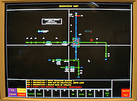 A computer screen showing the road system layout to enable police control room staff to monitor the traffic flow. This image may only be used to portray the subject in a positive manner..©shoutpictures.com..john@shoutpictures.com
