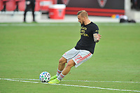 WASHINGTON, DC - SEPTEMBER 12: Daniel Royer #77 of New York Red Bulls warming up during a game between New York Red Bulls and D.C. United at Audi Field on September 12, 2020 in Washington, DC.