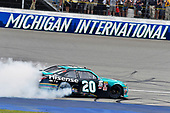 NASCAR XFINITY Series<br /> Irish Hills 250<br /> Michigan International Speedway, Brooklyn, MI USA<br /> Saturday 17 June 2017<br /> Denny Hamlin, Hisense Toyota Camry celebrates his win with a burnout <br /> World Copyright: Nigel Kinrade<br /> LAT Images