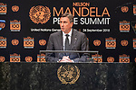 Opening Plenary Meeting of the Nelson Mandela Peace Summit<br /> <br /> His Excellency Borut PAHORPresident of the Republic of Slovenia
